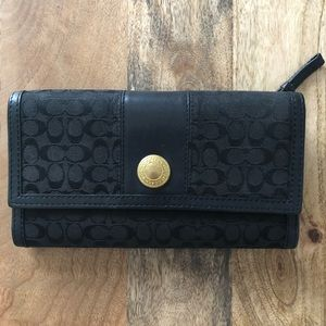 Coach Signature wallet with checkbook